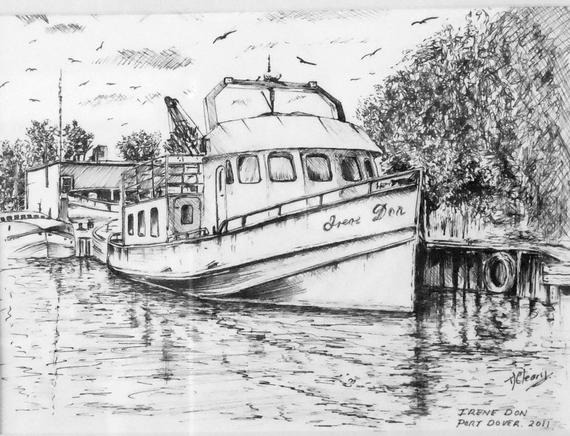 how to draw a fishing boat step by step fishing boat drawing a print from an original drawing by draw step fishing a boat how by to step