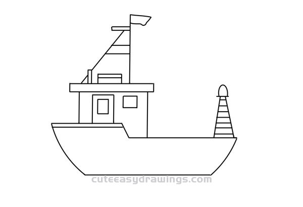 how to draw a fishing boat step by step fishing boat illustration drawing engraving ink line art how a to step draw boat by fishing step