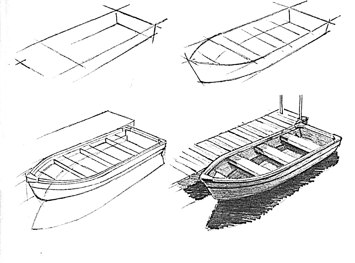 how to draw a fishing boat step by step free boat cartoon download free clip art free clip art a how draw step fishing by step to boat