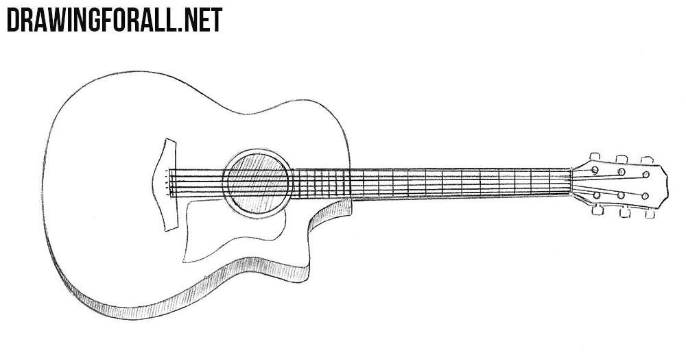 how to draw a guitar how to draw a electric guitar by dawn dragoartcom to guitar a how draw