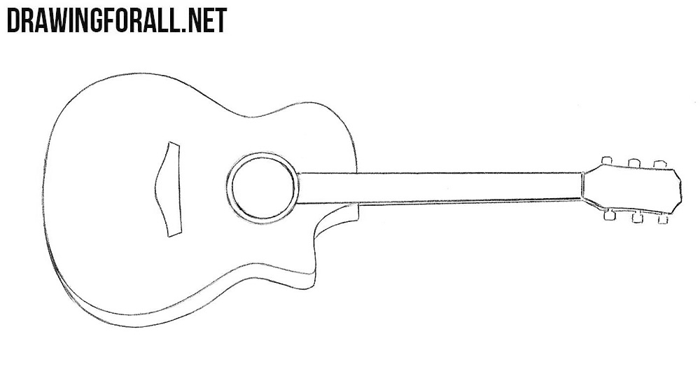 how to draw a guitar how to draw a guitar drawingforallnet guitar draw a to how