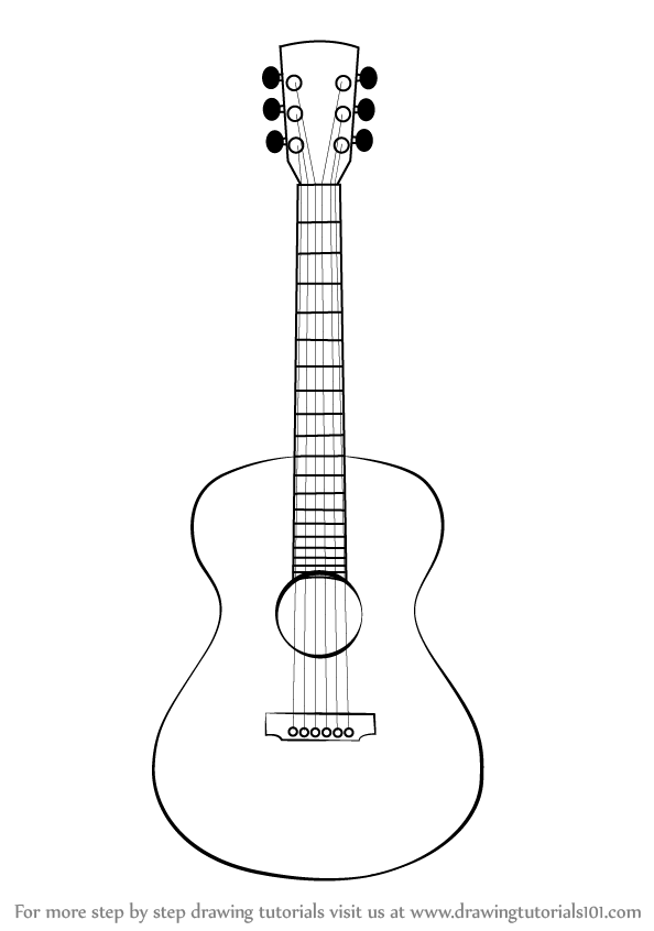 how to draw a guitar how to draw a guitar with easy step by step drawing to how draw guitar a
