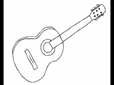 how to draw a guitar how to draw acoustic guitar easy for beginners youtube guitar how a to draw
