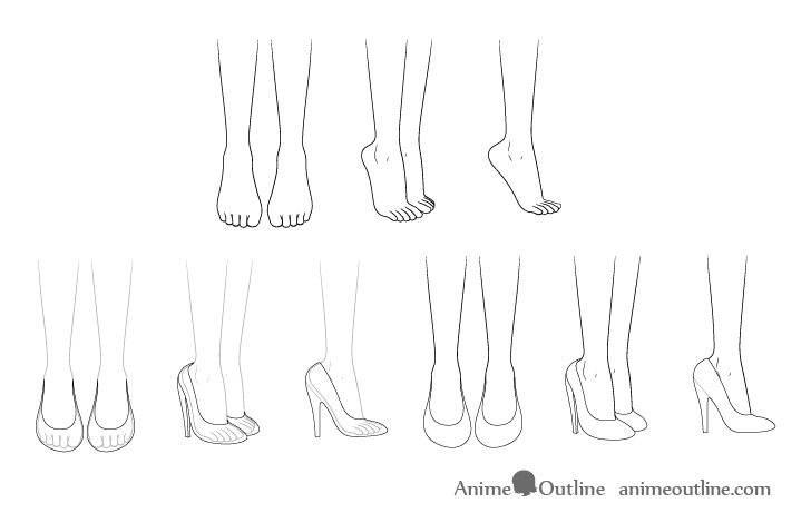 how to draw a heel step by step anatoref high heels row 1 left right row 2 row a to by heel how step step draw