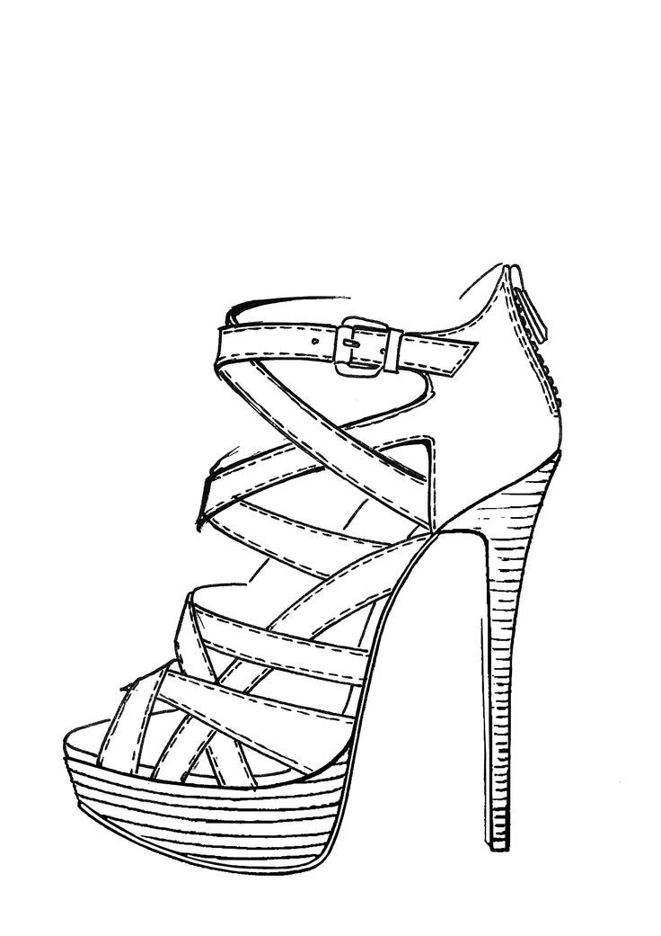 how to draw a heel step by step easy of high heels coloring pages heel step how draw by step to a