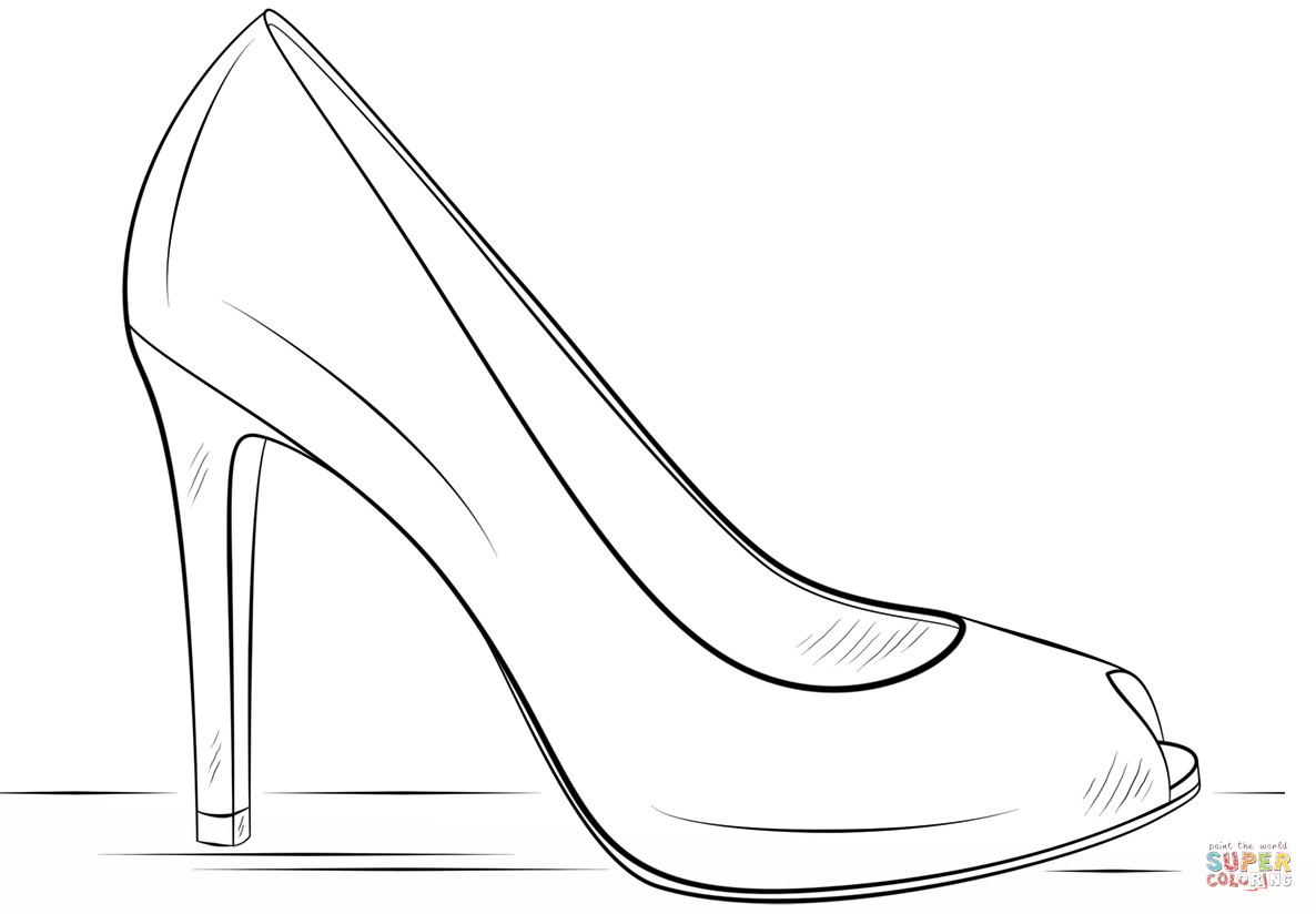 how to draw a heel step by step easy shoe drawing at getdrawings free download step draw a by how to heel step