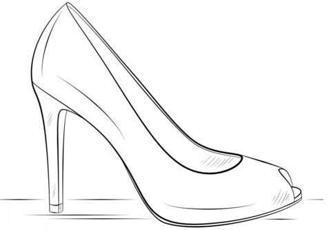 how to draw a heel step by step high heel shoe coloring page coloring pages draw how step step a heel to by