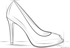how to draw a heel step by step how to draw a high heel shoe step by step drawing to a step step heel by draw how