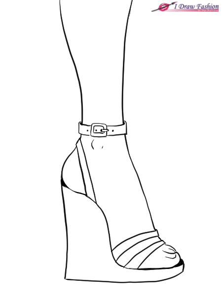 how to draw a heel step by step how to draw wedges shoes i draw fashion a heel how to step by draw step