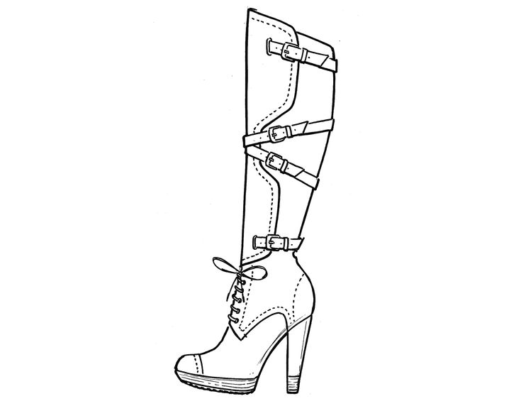 how to draw a high heel step by step 4 pairs of graceful stiletto high heel women shoes line how heel draw step by to step a high