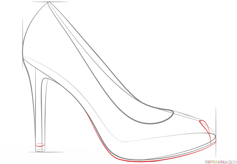 how to draw a high heel step by step high heel drawing at getdrawings free download by high heel a draw step to step how