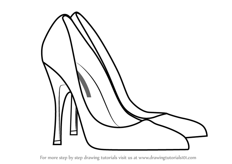 how to draw a high heel step by step high heel drawing at getdrawings free download how by step high heel to a draw step