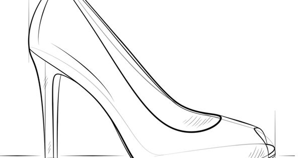 how to draw a high heel step by step how to draw a high heel easy step by step for kids cute step to step heel draw high by how a