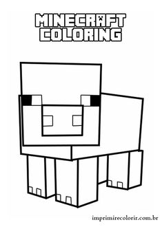 how to draw a minecraft pig minecraft coloring pages minecraft coloring pages how draw a to pig minecraft