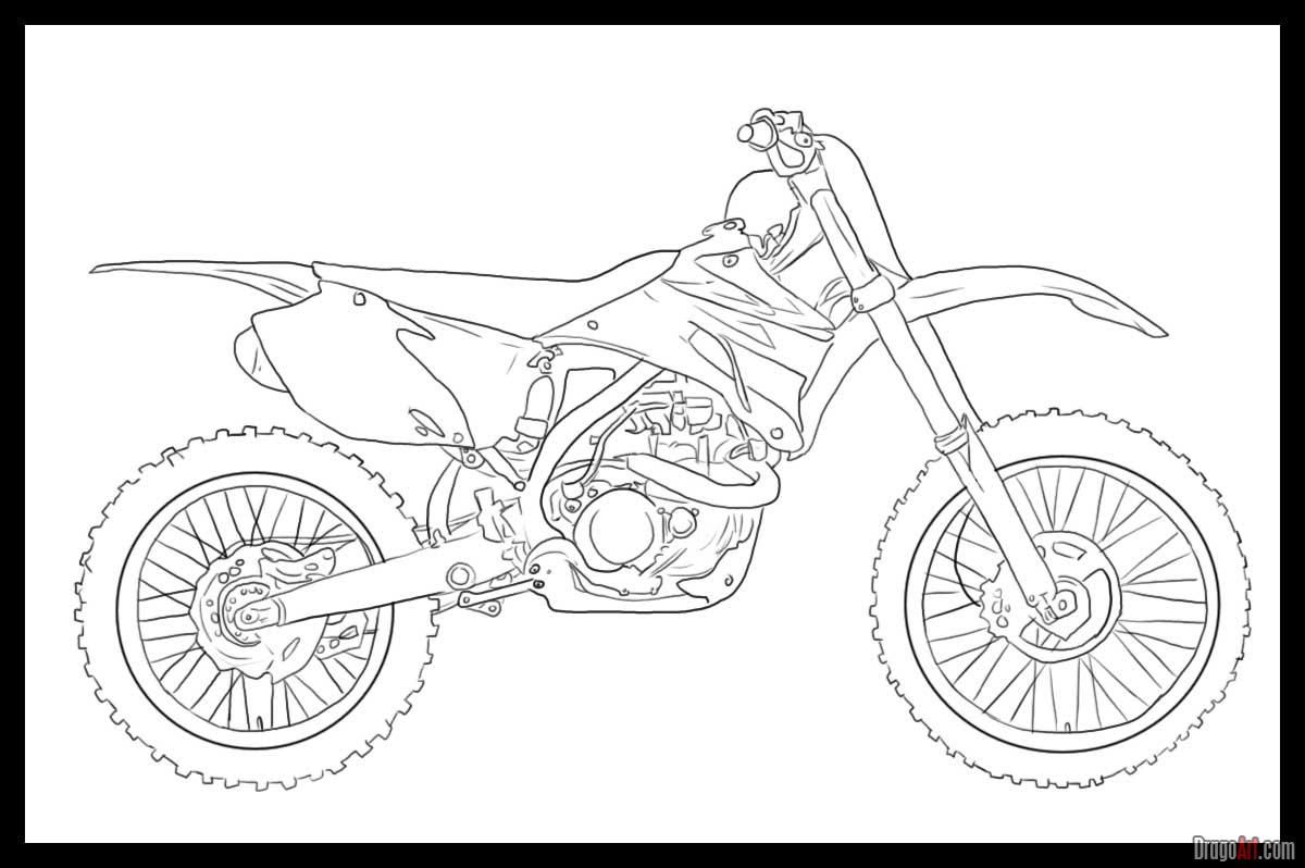 how to draw a motorcycle dirt bike coloring page bike drawing coloring pages how to a motorcycle draw