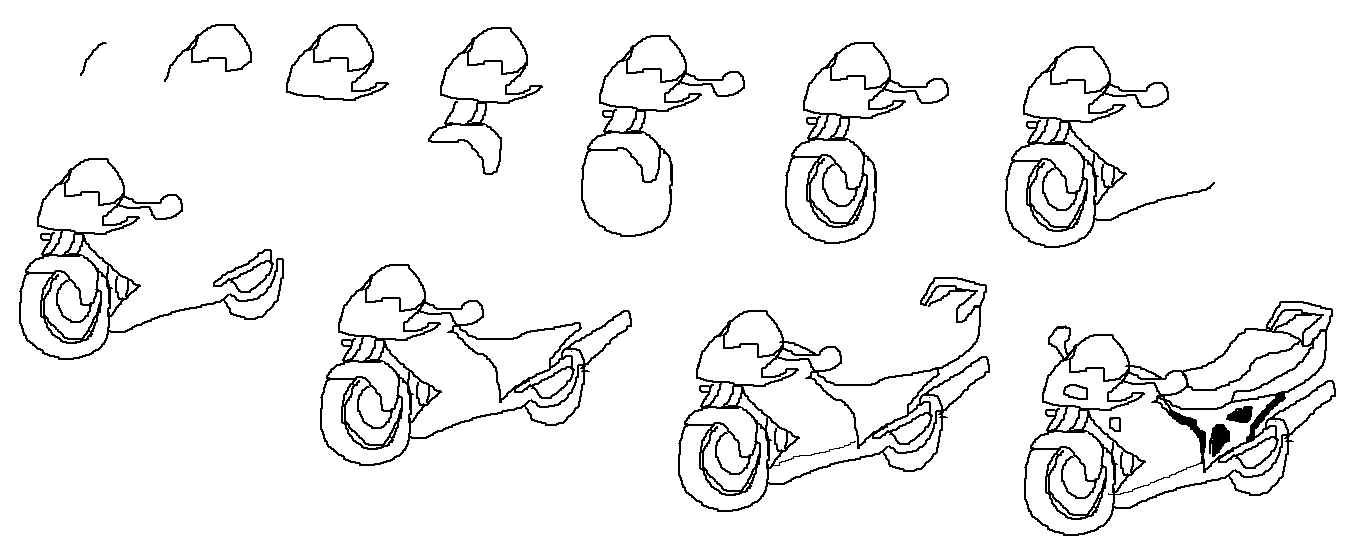 how to draw a motorcycle how to draw a cartoon motorcycle bike art pinterest motorcycle to draw a how