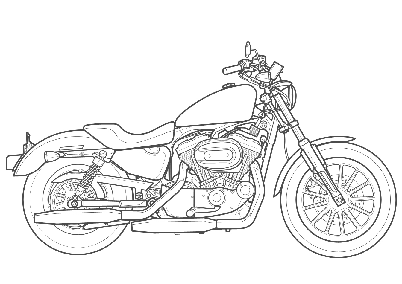 how to draw a motorcycle how to draw a motorbike step by step motorcycles how draw motorcycle a to
