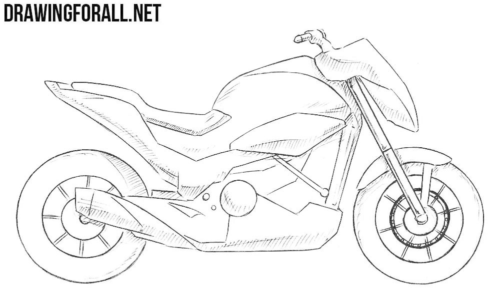 how to draw a motorcycle how to draw a motorcycle step by step drawingforallnet draw a to motorcycle how