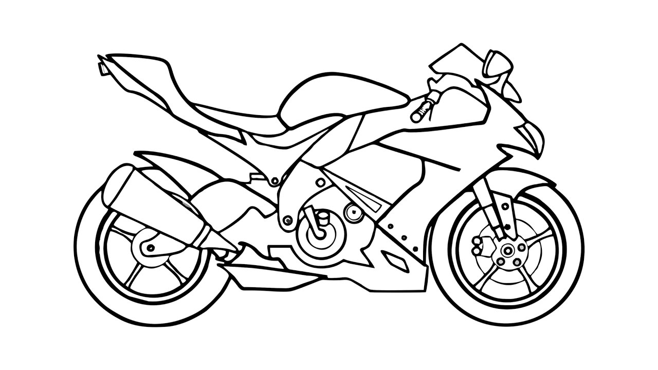 how to draw a motorcycle how to draw motorcycles fun drawing lessons for kids to how motorcycle draw a