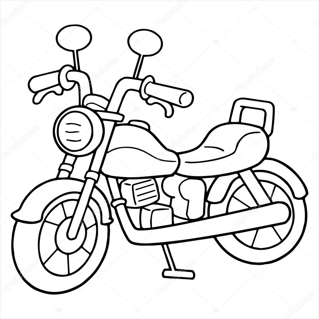 how to draw a motorcycle motorcycle cartoon drawing at paintingvalleycom explore how draw motorcycle to a