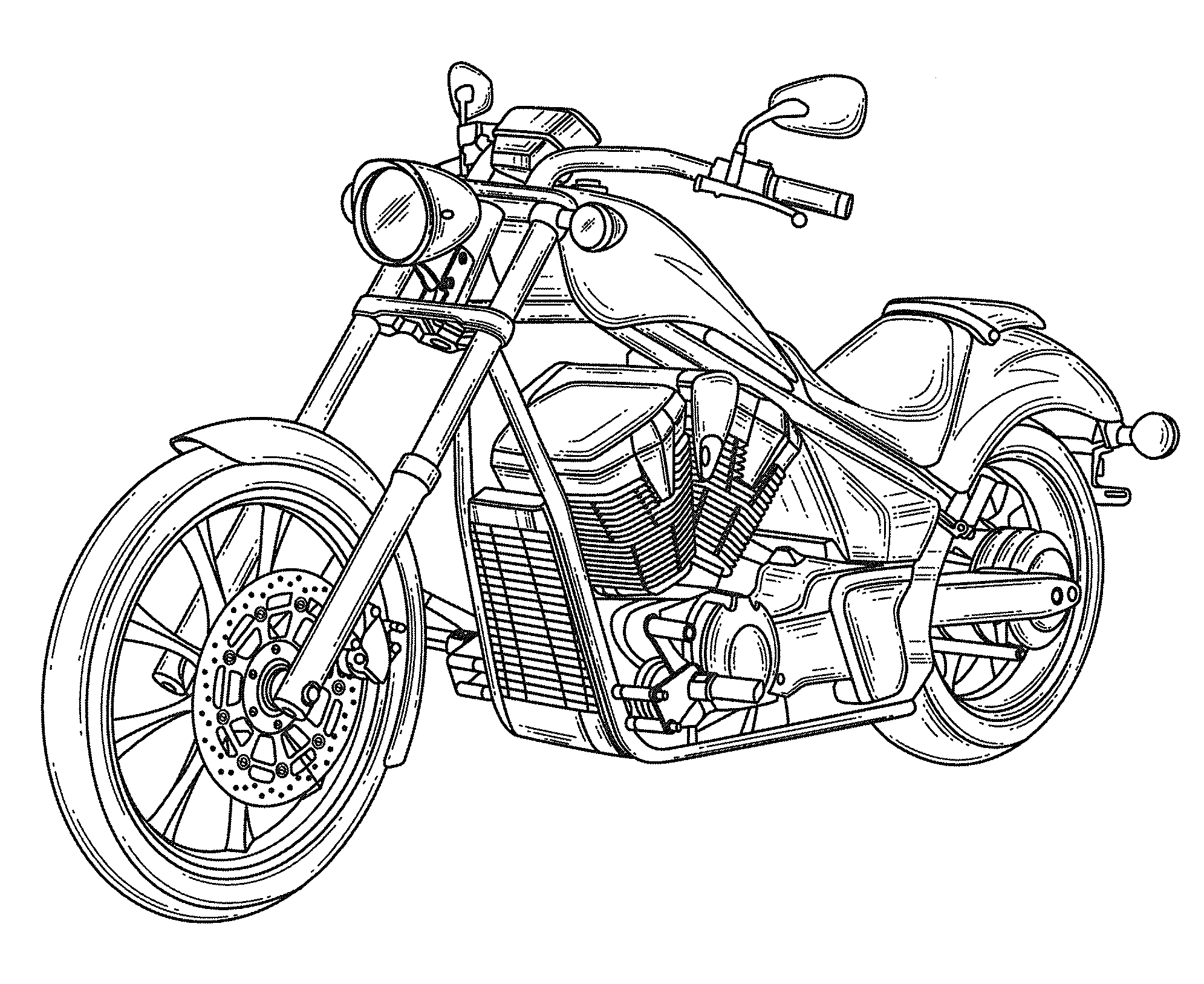 how to draw a motorcycle motorcycle drawing at getdrawings free download to motorcycle draw a how