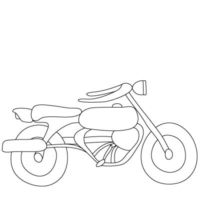 how to draw a motorcycle motorcycle drawing for kids at getdrawings free download a how to motorcycle draw