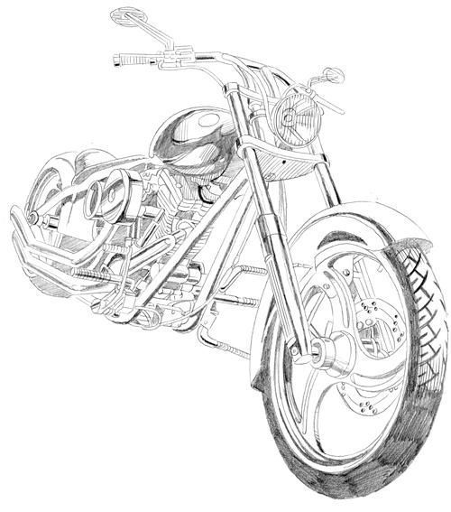 how to draw a motorcycle motorcycle line drawing at getdrawings free download draw how to motorcycle a
