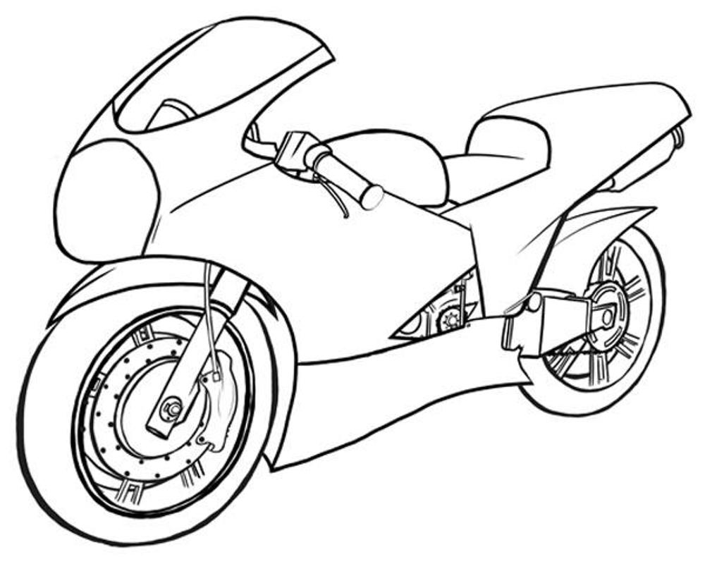 how to draw a motorcycle sportbike drawing at getdrawings free download motorcycle how draw a to