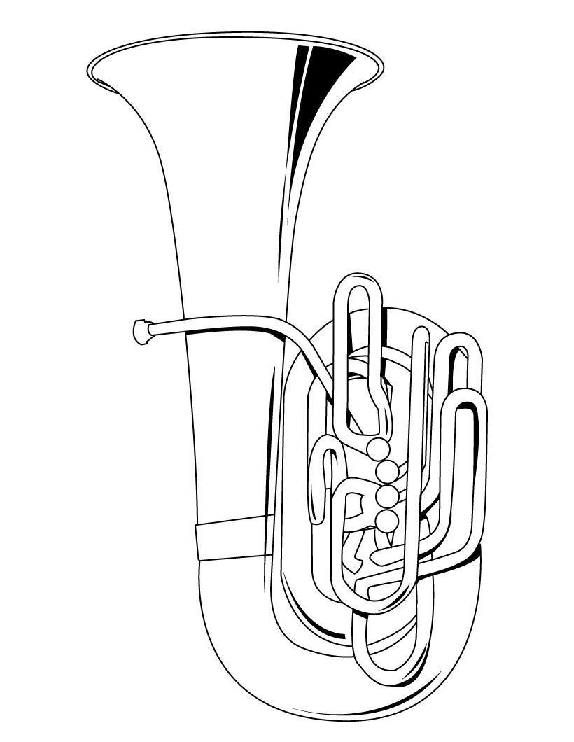 how to draw a musical instrument 6 best musical instruments coloring pages for kids a musical how to draw instrument