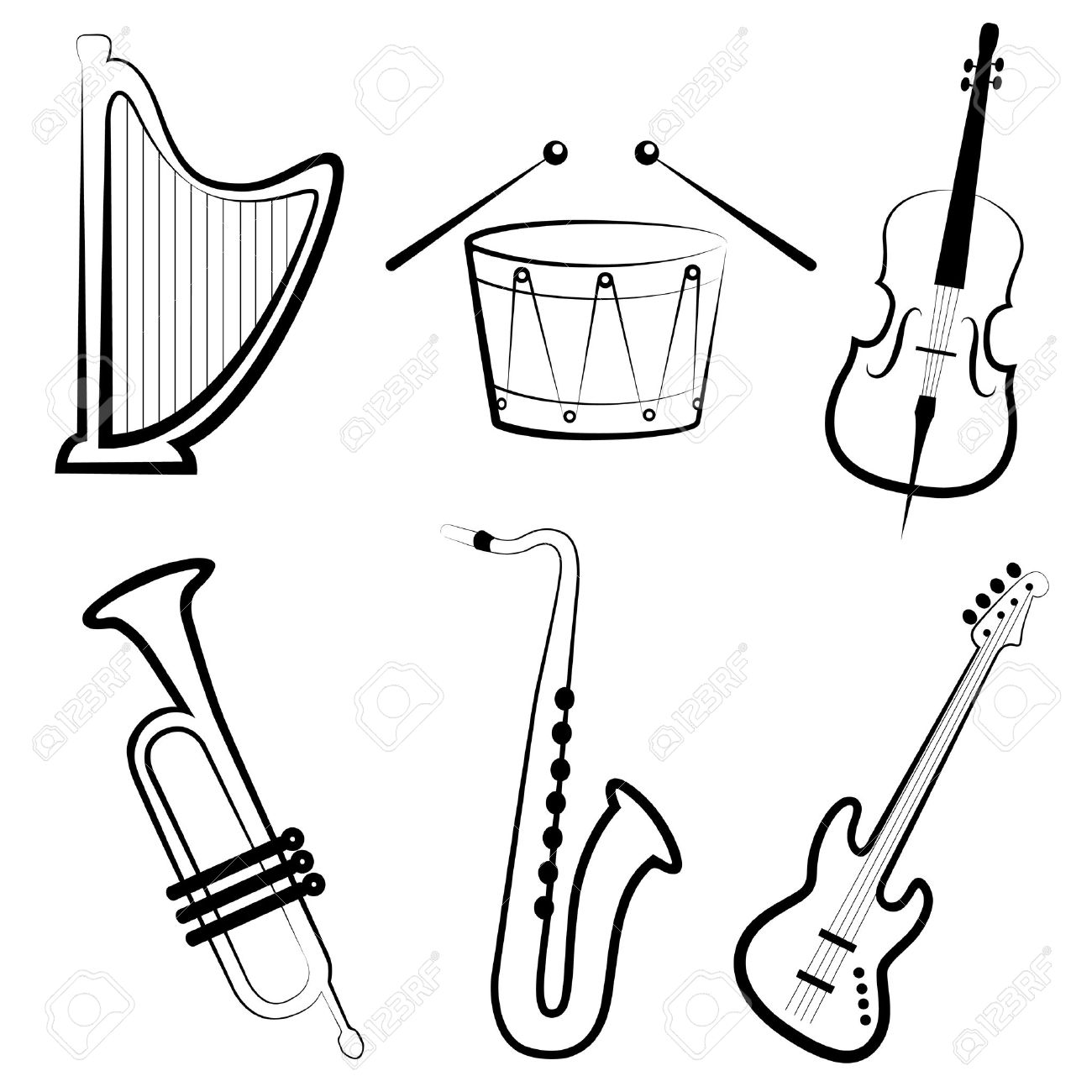 how to draw a musical instrument how to draw an instrument easy step by step wind how musical a to instrument draw