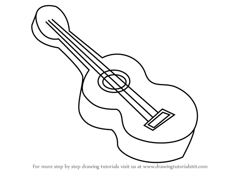 how to draw a musical instrument learn how to draw guitar for kids musical instruments how to instrument draw a musical