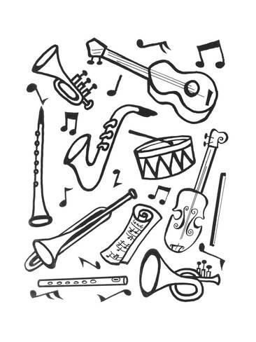 how to draw a musical instrument music instrument simple drawing to a musical instrument how draw
