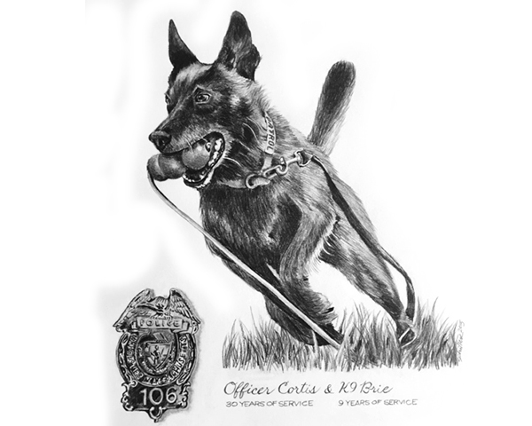 how to draw a police dog k9 brie the pet sketcher to draw how a dog police