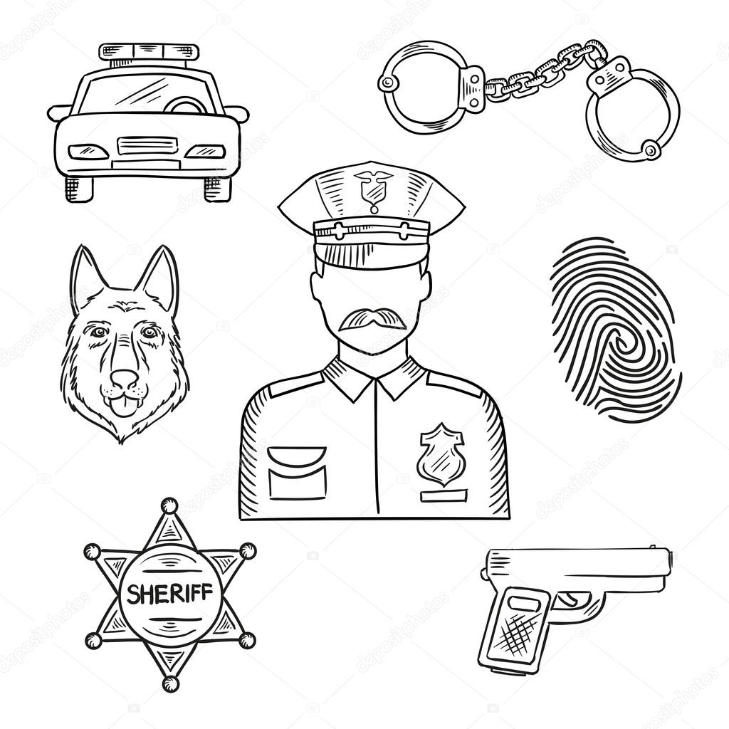 how to draw a police dog sketch image of policeman police officer or policeman a to draw police how dog