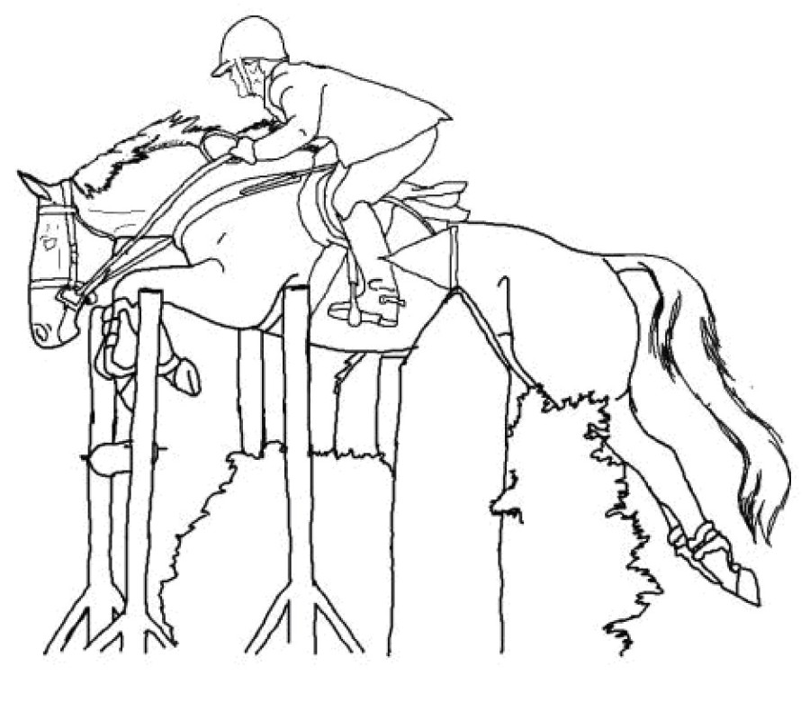 how to draw a realistic horse jumping horse coloring pages coloringrocks to horse jumping realistic how a draw