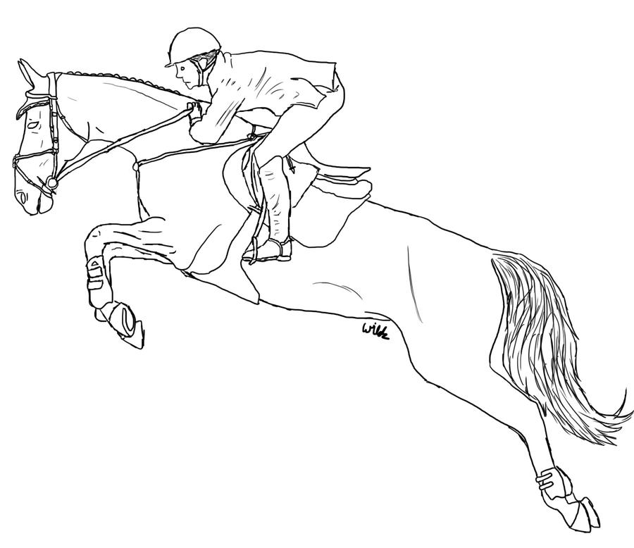 how to draw a realistic horse jumping lineart showjumping by sadosa96 horse coloring pages horse draw to realistic how jumping a