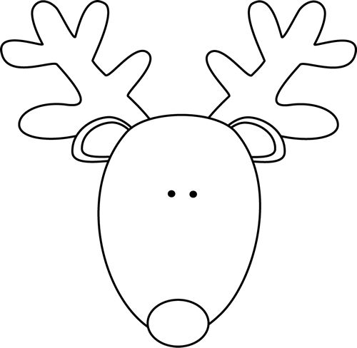 how to draw a reindeer face christmas reindeer face coloring page free printable a to draw how face reindeer