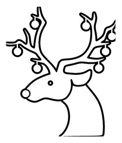 how to draw a reindeer face easy drawing deer head free download on clipartmag how face reindeer to a draw