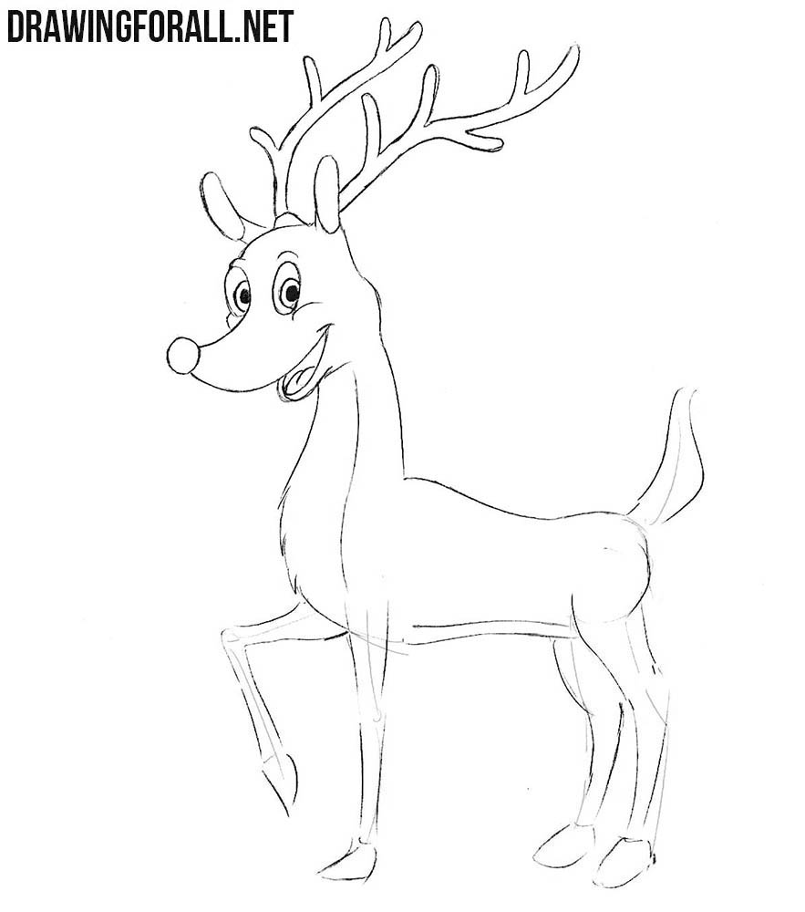how to draw a reindeer face reindeer face drawing at getdrawings free download a face reindeer how draw to