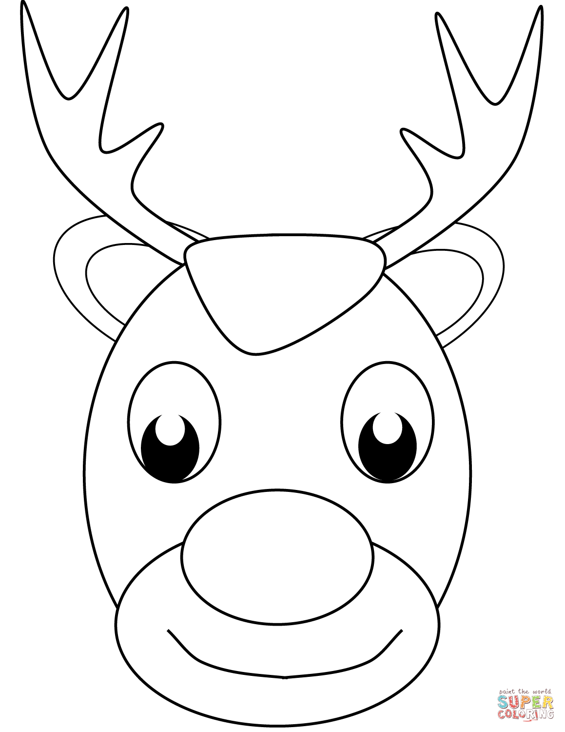 how to draw a reindeer face reindeer face drawing at getdrawings free download face draw how reindeer a to