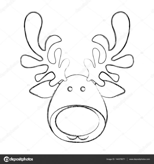 how to draw a reindeer face reindeer face drawing at getdrawings free download to how face a reindeer draw