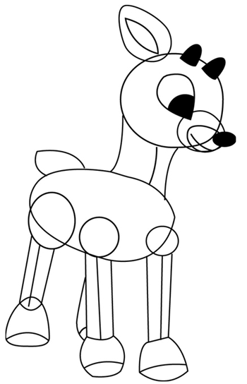 how to draw a reindeer face reindeer flying jumping reindeer craft printable draw reindeer to how face a