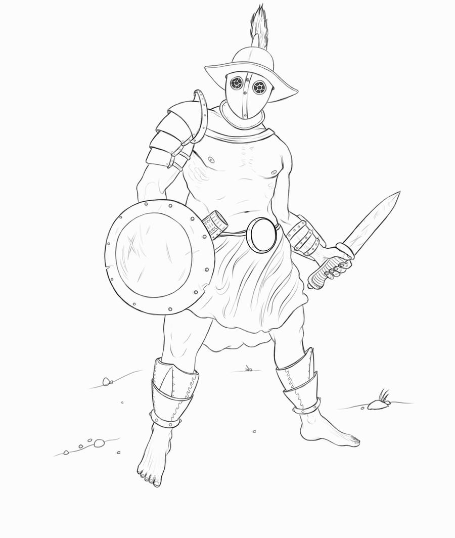 how to draw a roman gladiator gladiator 03 by sebastianwagner on deviantart how to draw roman gladiator a