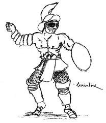how to draw a roman gladiator gladiator drawing at getdrawings free download to gladiator roman how a draw