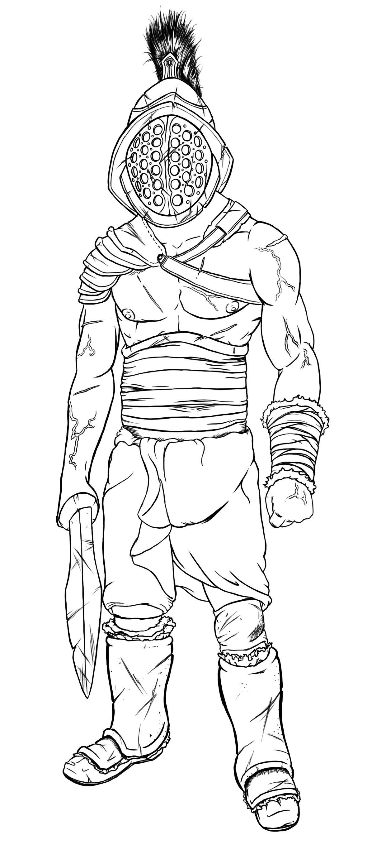 how to draw a roman gladiator gladiator lines by tex tin star on deviantart how draw to roman gladiator a