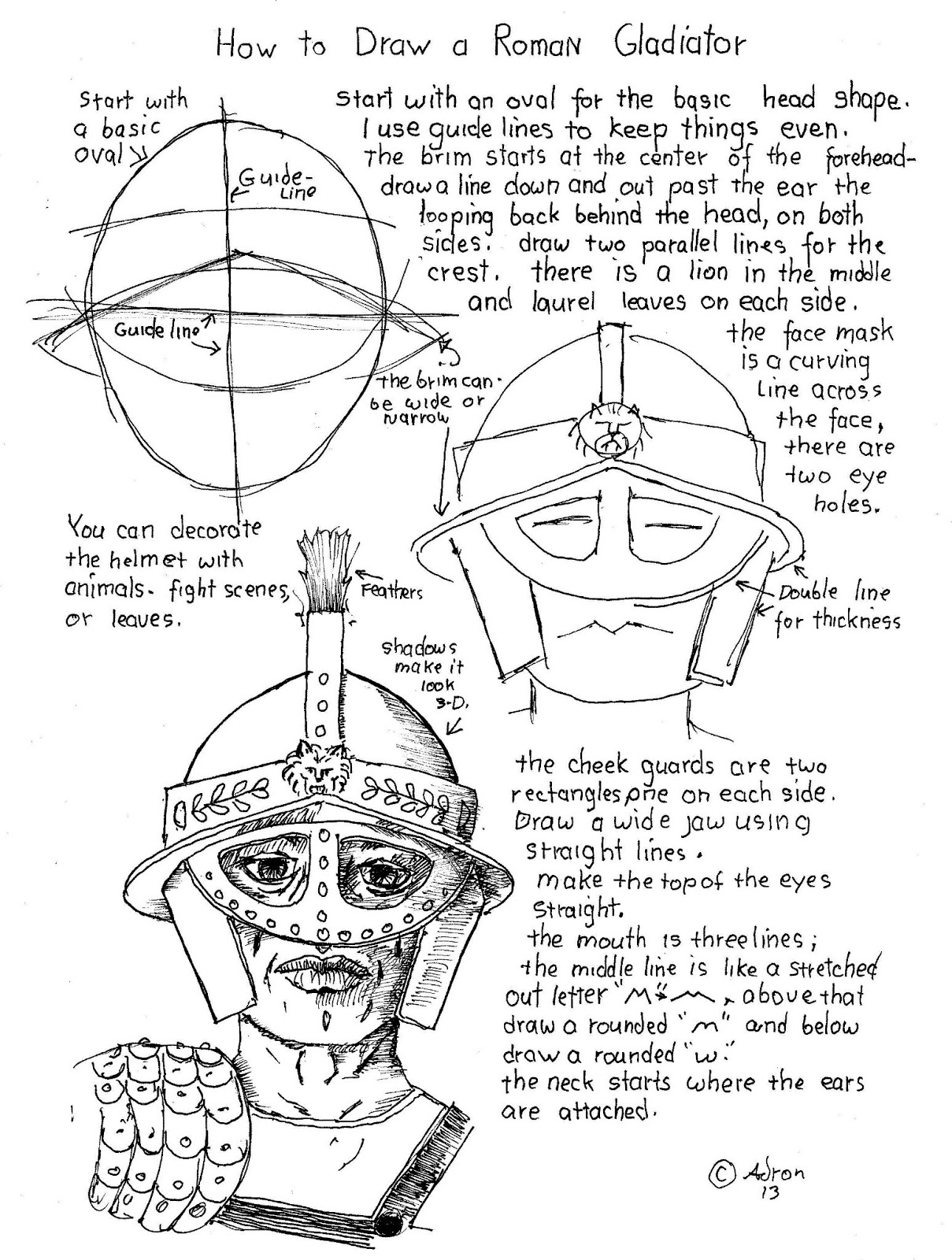 how to draw a roman gladiator how to draw worksheets for the young artist how to draw a how gladiator a to roman draw