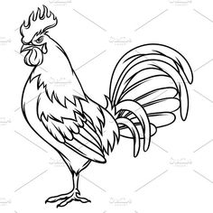 how to draw a rooster how to draw a rooster step by step drawing tutorials for rooster to how a draw