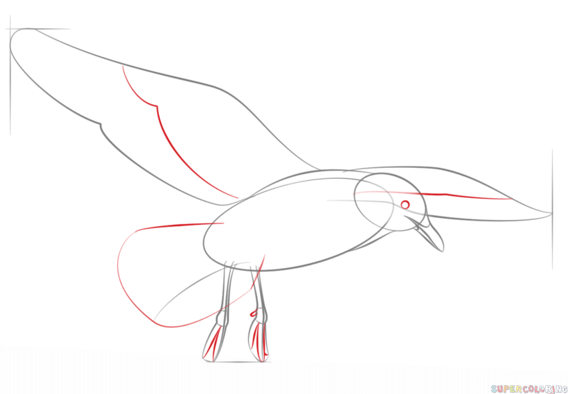 how to draw a seagull how to draw a seagull in the distance an easy video online a draw to seagull how