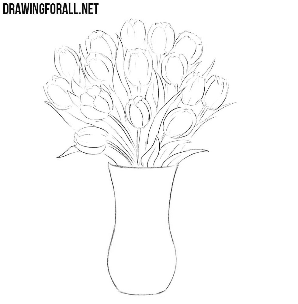 how to draw a vase with flowers step by step flower vase images drawing best flower site how by vase draw step step flowers a to with