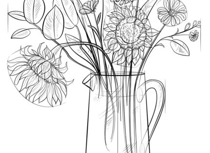 how to draw a vase with flowers step by step how to draw a vase drawing tutorial flower vase drawing to flowers by step vase how step draw a with